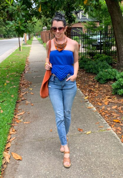 Dress to Strapless Top DIY Refashion After