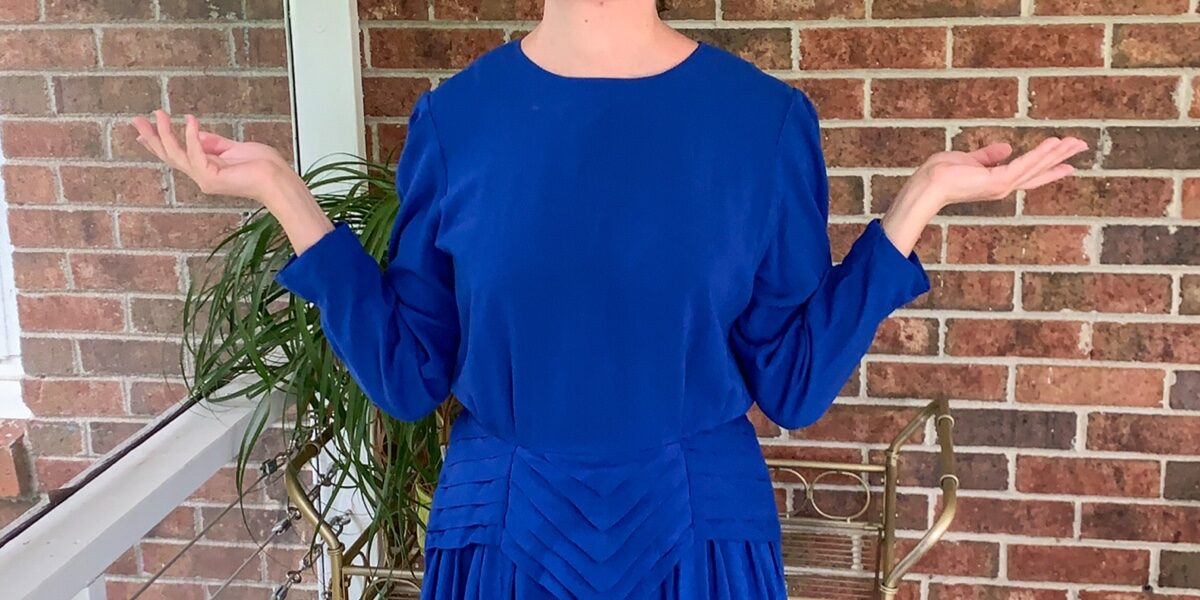Dress to Strapless Top DIY Refashion