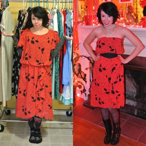 A Strapless Dress DIY & A Breakup 5