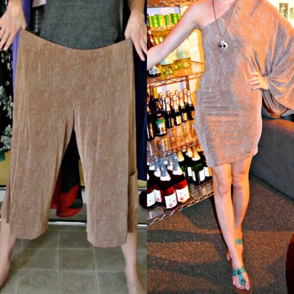Gauchos to Dress Refashion 8