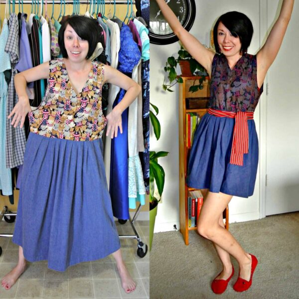 A Patriotic Pinup Dress Refashion 3