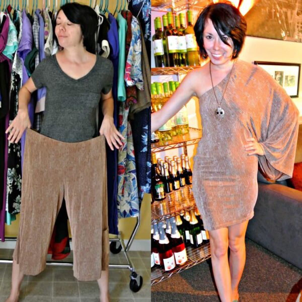 Gauchos to Dress Refashion 7