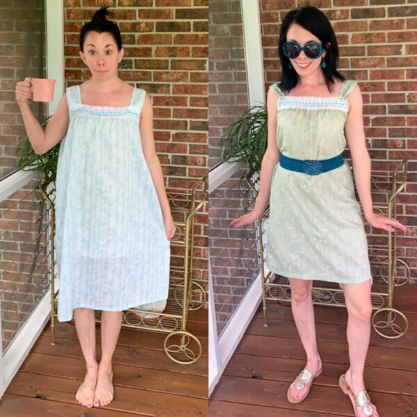 Vintage Nightgown Refashion 6
