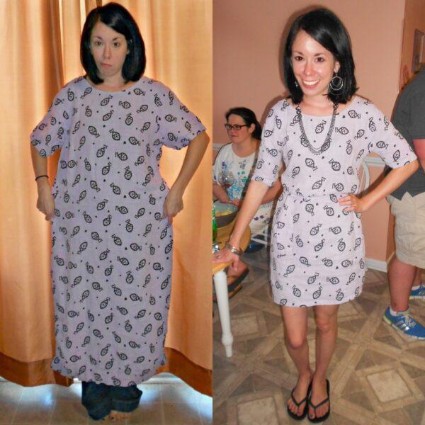 Day 332: Tunacity Dress: How to Take in & Shorten a Dress 2