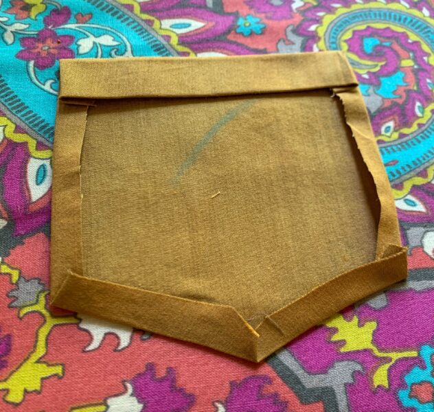 pocket with seams pressed in