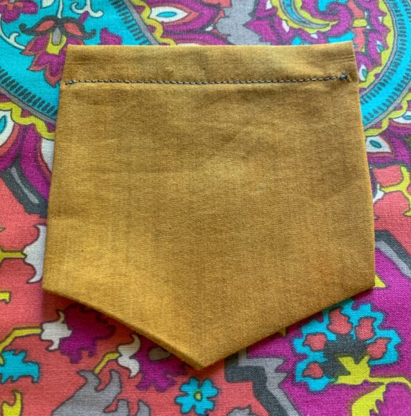 pocket with top stitched