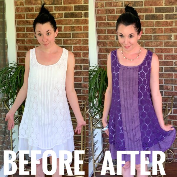 Refashionista Why Do Some Fabrics Dye Better than Others before and after