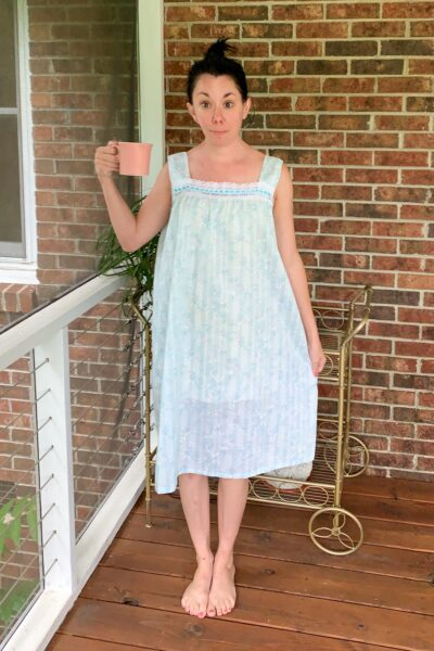 vintage nightgown refashion before