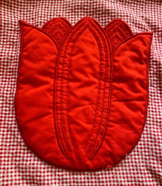 closeup of tulip pocket