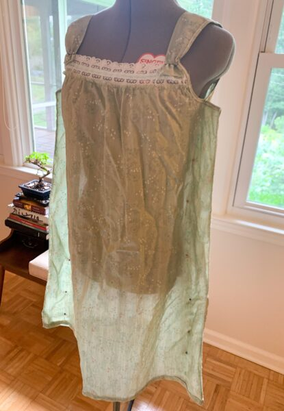 nightgown on dress form