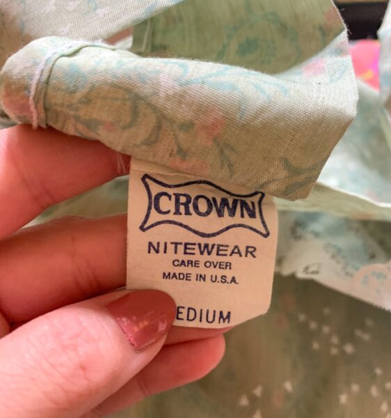 Crown Nitewear tag