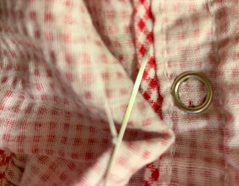 knotting off dart