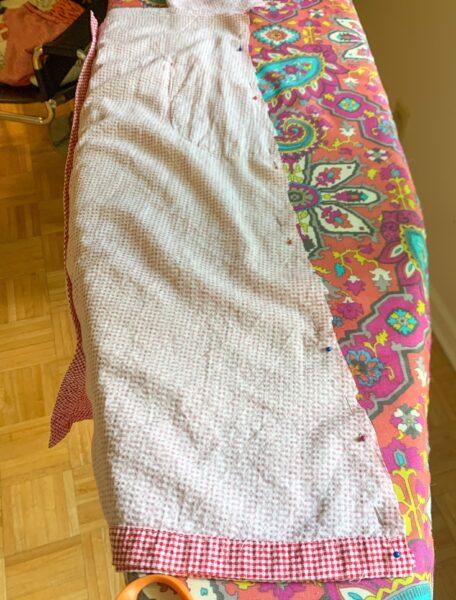 pinned skirt of dress