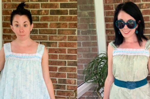 Refashionista Vintage Nightgown Refashion