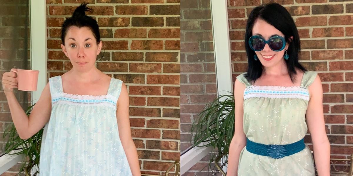Refashionista Vintage Nightgown Refashion