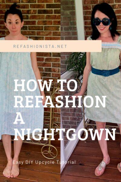 Vintage Nightgown Refashion 4