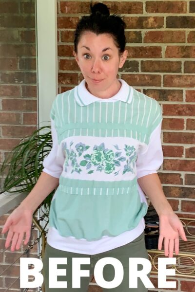 DIY Tube Top from Old Lady Top 10