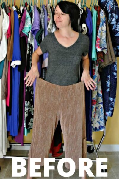 Gauchos to Dress Refashion 5