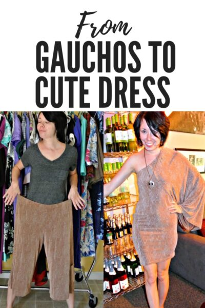 Gauchos to Dress Refashion 6