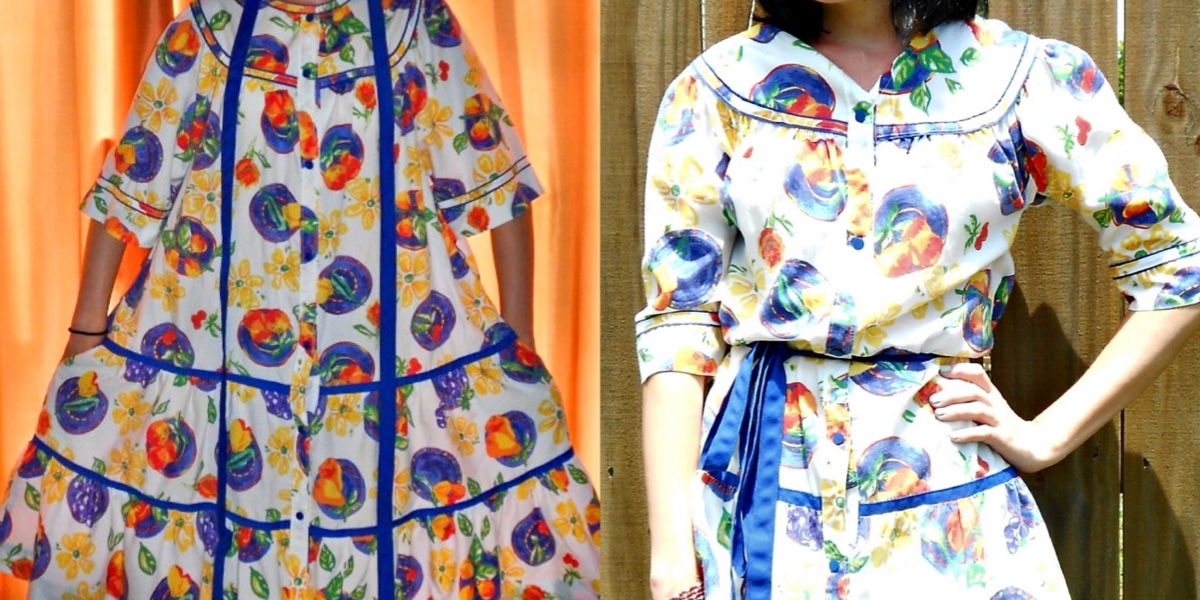 House Dress to Top Refashion