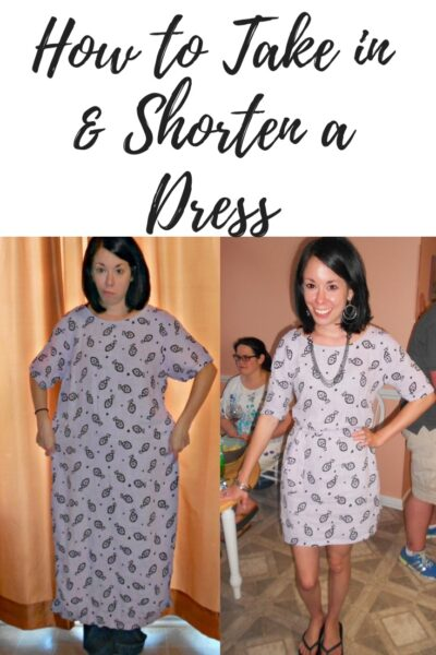 Day 332: Tunacity Dress: How to Take in & Shorten a Dress 1
