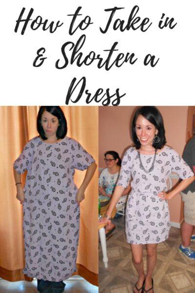 Day 332: Tunacity Dress: How to Take in & Shorten a Dress 1