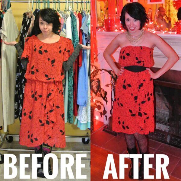 A Strapless Dress DIY & A Breakup 7