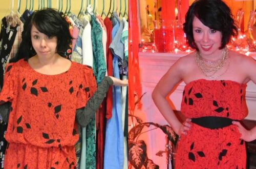 A Strapless Dress DIY & A Breakup 3