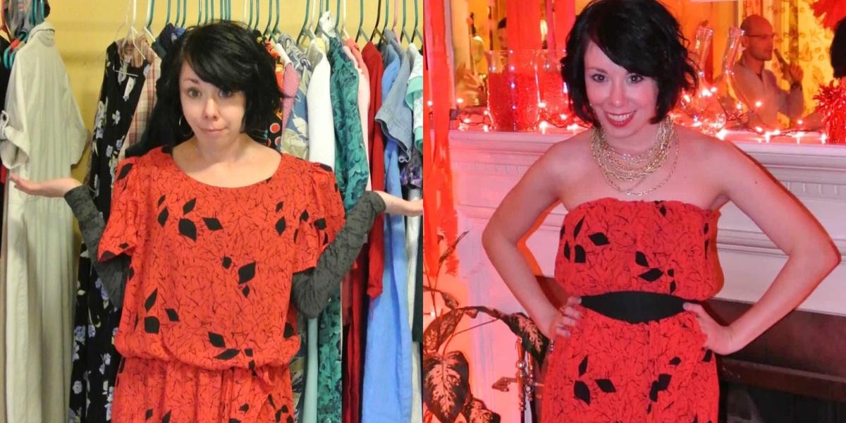 A Strapless Dress DIY & A Breakup 1