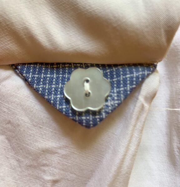 stitched flower button