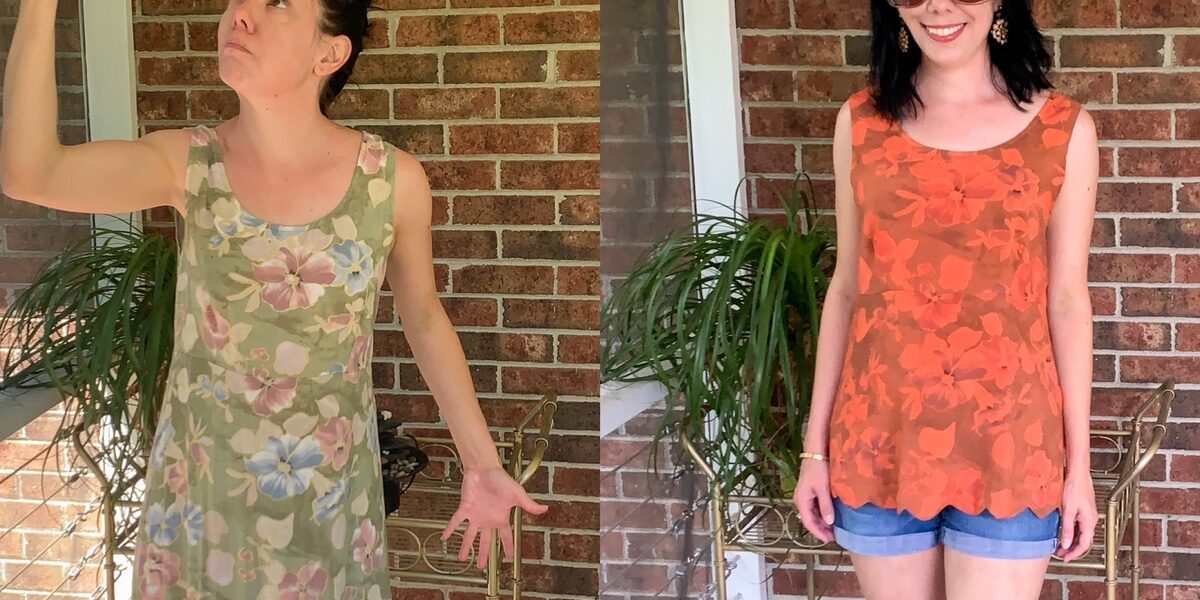refashionista DIY scalloped hem