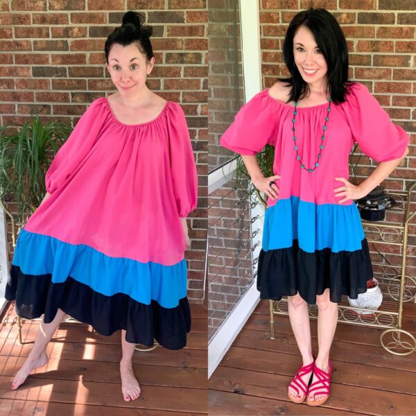 H&M Puff-Sleeved Dress Inspired Refashion 5