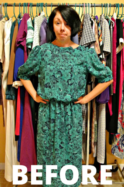 A DIY Strapless Dress Refashion 4