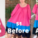 H&M Puff Sleeve Dress Inspired Refashion