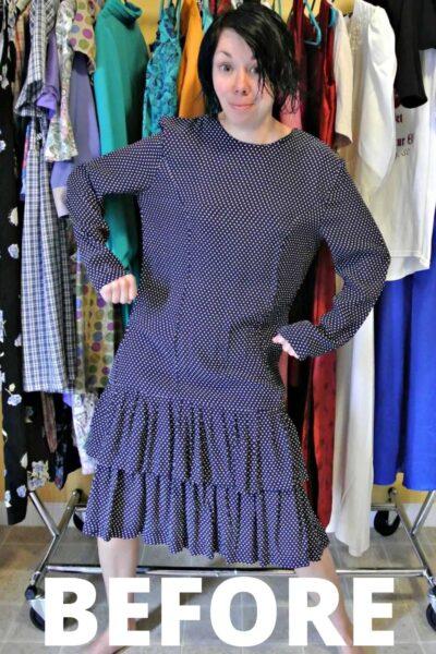 A One-Shoulder Dress Refashion 3