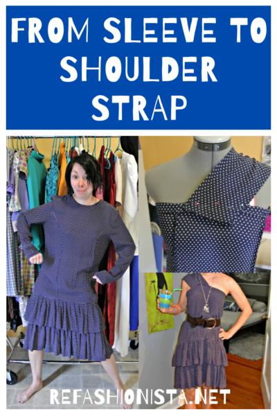 A One-Shoulder Dress Refashion 2
