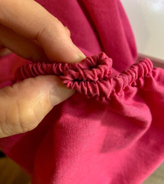 folded over elastic on sleeve