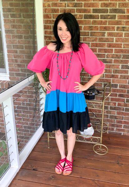 refashionista H&M Puff-Sleeved Dress Inspired Refashion after