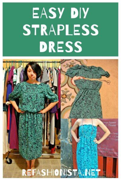 A DIY Strapless Dress Refashion 5