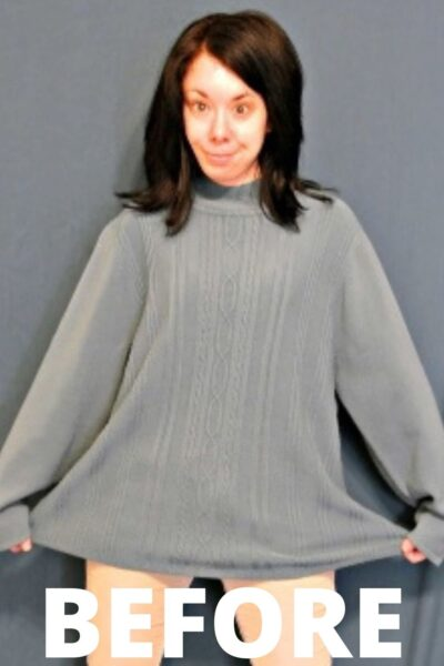 An Eileen Fisher Inspired Sweater Refashion 4