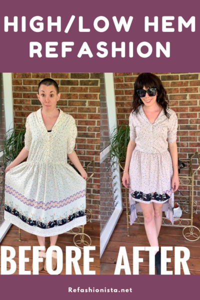 A Finicky High-Low Hem Dress Refashion 6