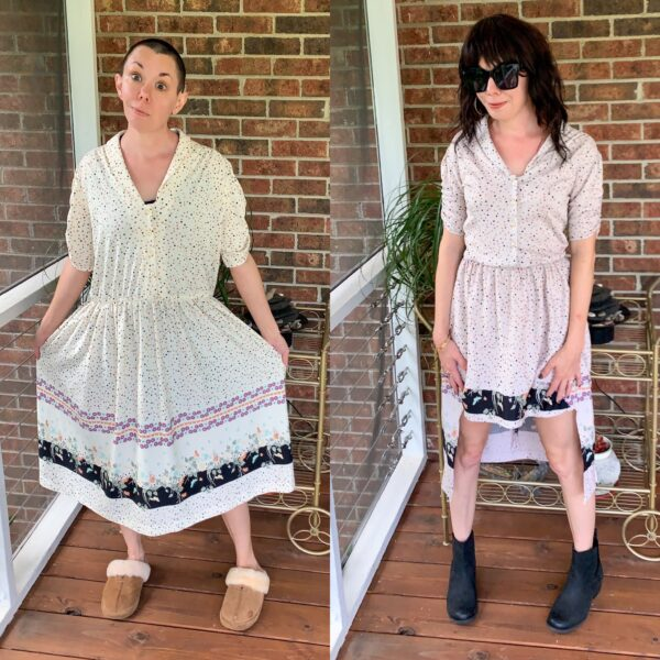 A Finicky High-Low Hem Dress Refashion 5