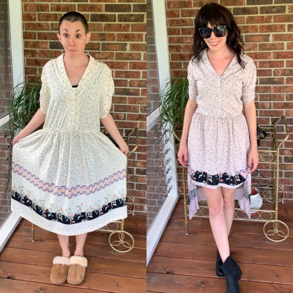A Finicky High-Low Hem Dress Refashion 7