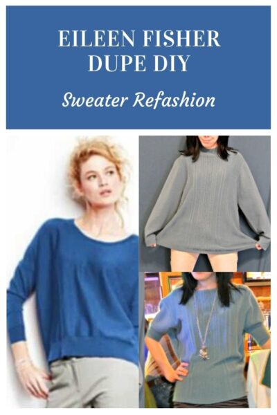 An Eileen Fisher Inspired Sweater Refashion 6