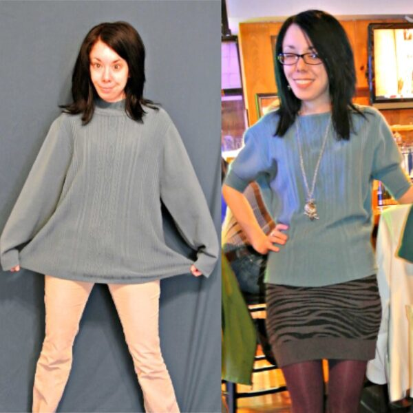 An Eileen Fisher Inspired Sweater Refashion 5