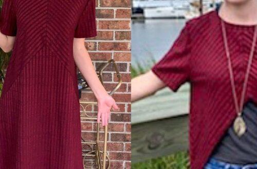 No-Sew Dress to Reverse Triangle Bottom Shirt