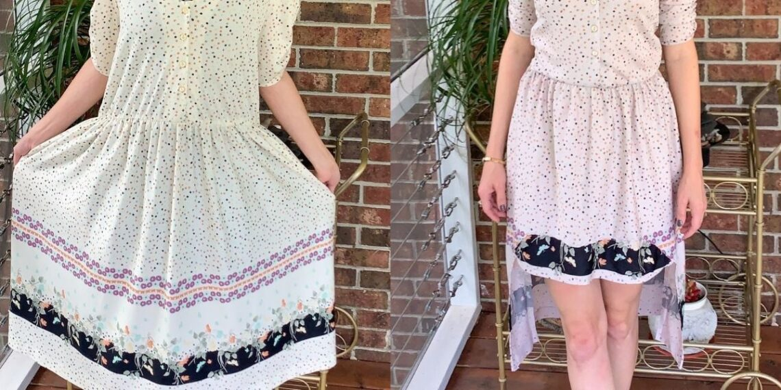 high low hem dress refashion