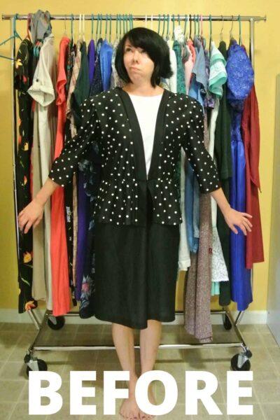 A New-Sew Dress to Peplum Top Refashion 2