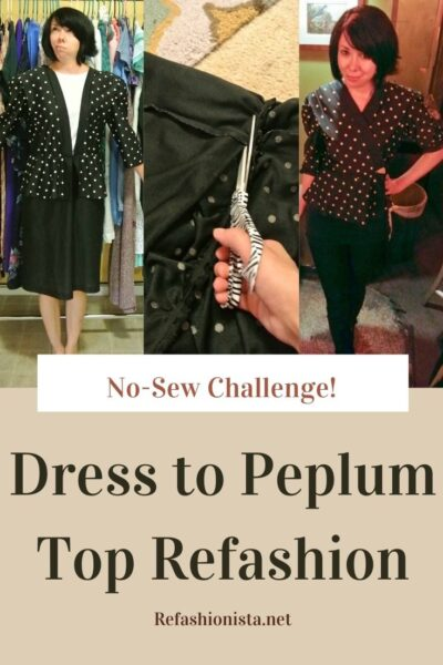 A New-Sew Dress to Peplum Top Refashion 5