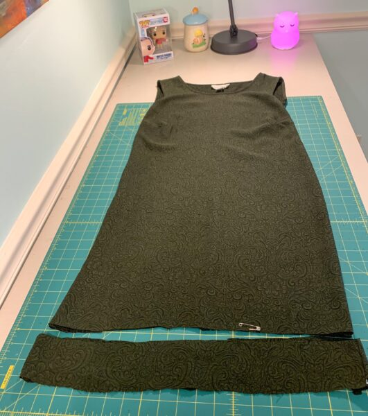 cut off bottom from dress